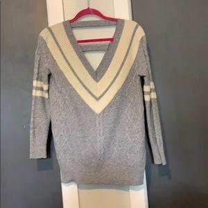 Sweaters - Deep V Oversized varsity sweater